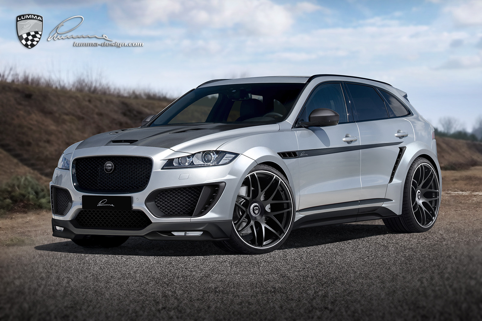 lumma news neuer jaguar f pace clr. Black Bedroom Furniture Sets. Home Design Ideas